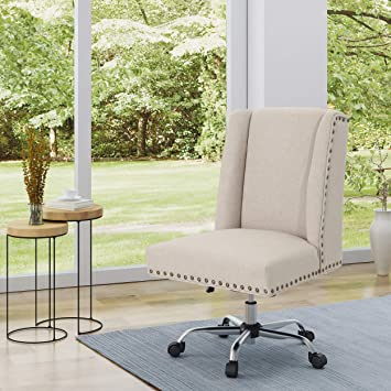 Chrome Christopher Knight Home 304959 Quentin Desk Chair Wheat
