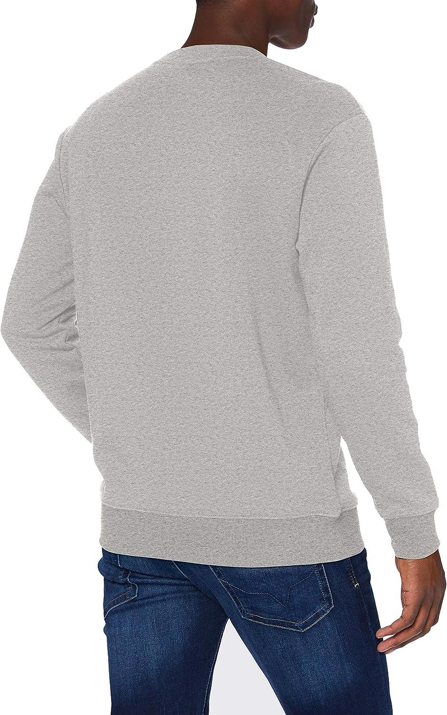 Lee Herren Refined Applique SWS Sweater Grey Mele
