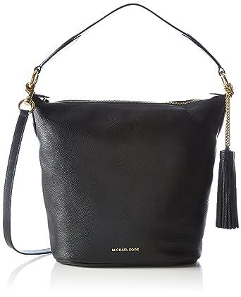 deeb299bca17 Amazon.com: MICHAEL Michael Kors Elana Large Shoulder Bag (Black ...