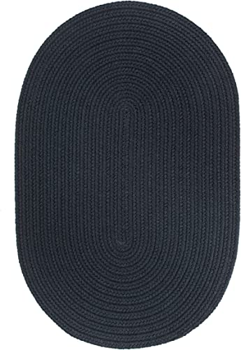Solid Round Rug, 6-Feet, Navy