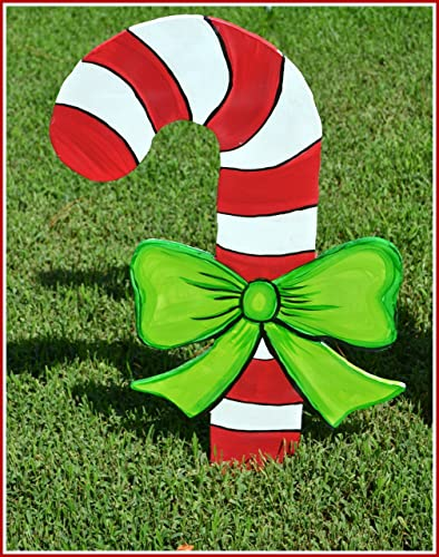 christmas yard art candy cane candy cane yard art candy cane garden decoration