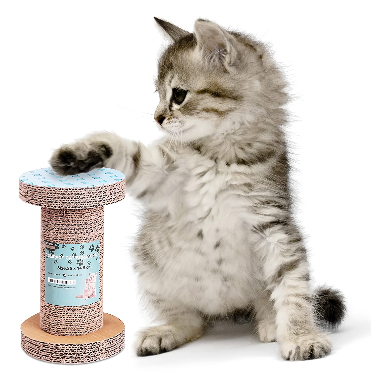 85%OFF Cat Scratcher - Cat Friendly Scratching Post - Compact Size and Portable Cat Scratch Tube - By Utopia Home