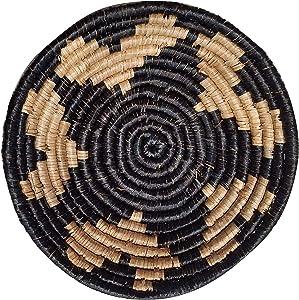 PD Home Modern Boho Seagrass Wall Basket Sculpture Rustic Decor (Large, Star Black)