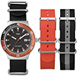 Timex Original Unisex Quartz Watch with Black Dial Analogue Display and Multicolour Nylon Strap UG0108AU