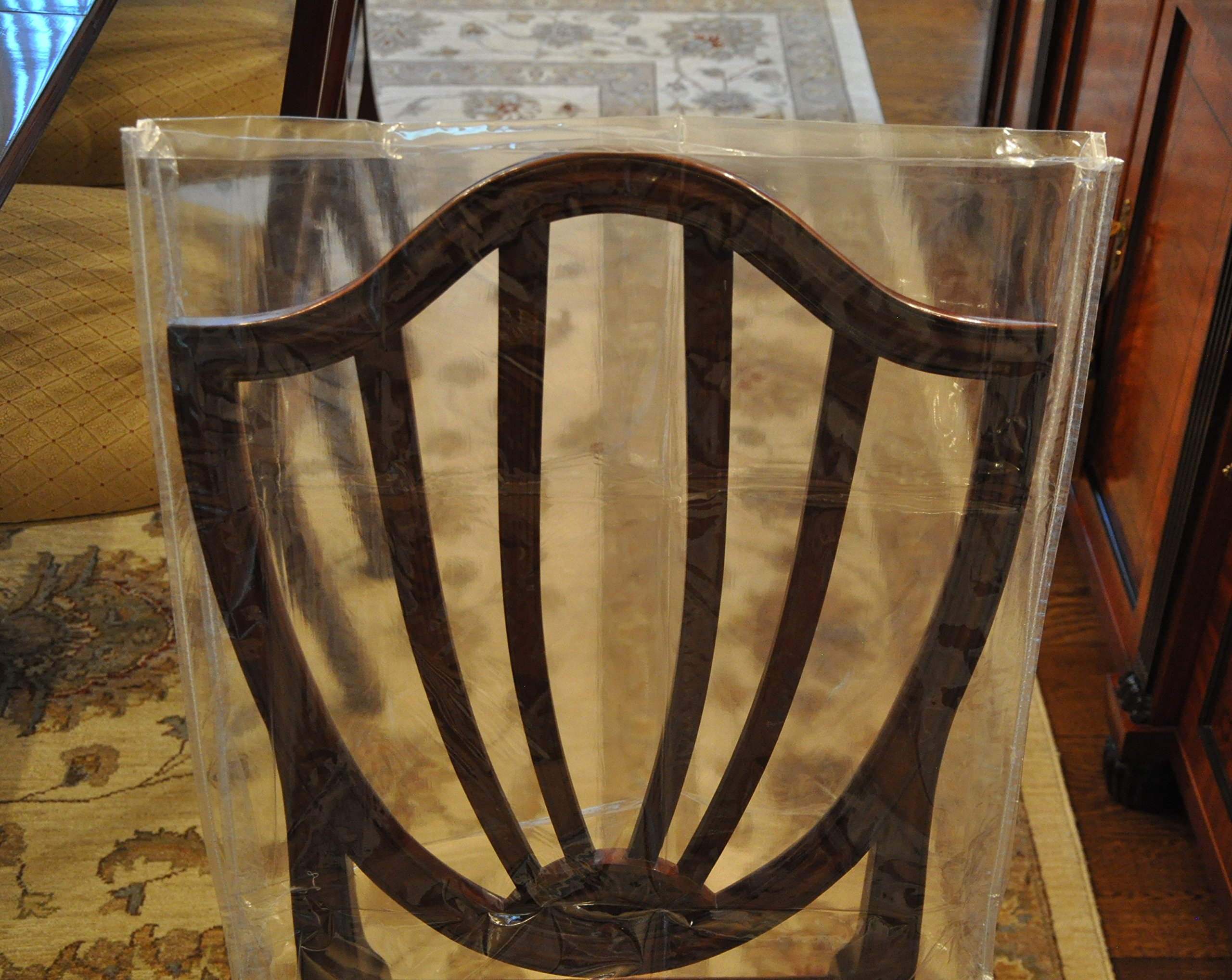 plastic seat covers dining room chairs | Protector Furniture Dining Room Chair Heavy Duty Glass ...