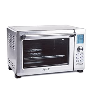"Morning Star - New and Improved - Extra Large -12-Slice Countertop Digital Infrared (No Preheat Needed) Convection Toaster Oven, Stainless Steel 21"" x 13"" x 13.5"""