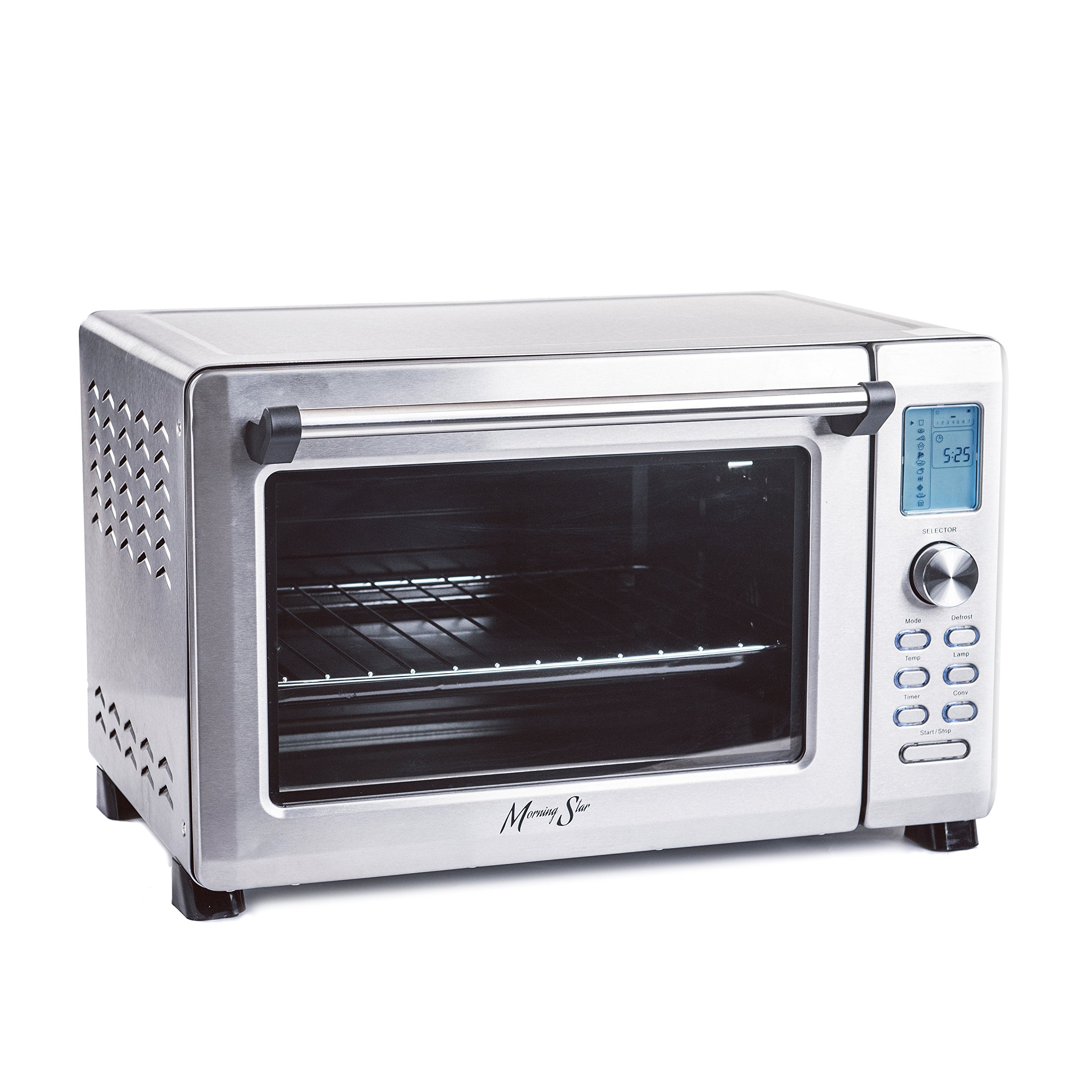 Morning Star - New and Improved - Extra Large -12-Slice Countertop Digital Infrared (No Preheat Needed) Convection Toaster Oven, Stainless Steel 21'' x 13'' x 13.5''
