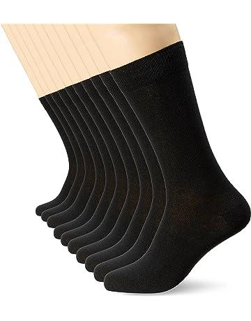 96694e6d93b2 Mens Black Socks (10 Pack) FM® Comfortable, Everyday, Breathable Calf Socks