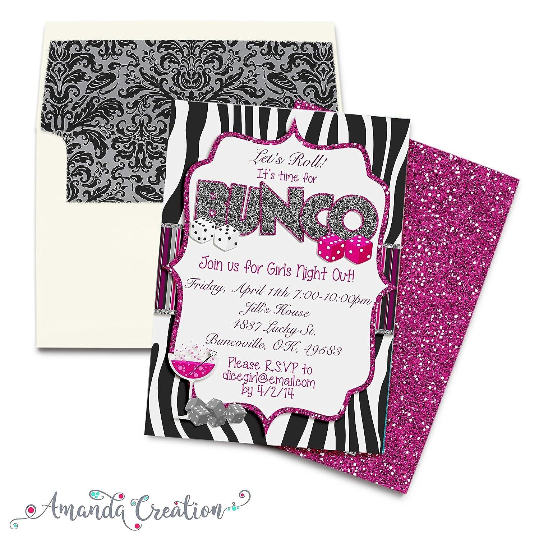 Amazon Com Bunco Party Invitation Handmade