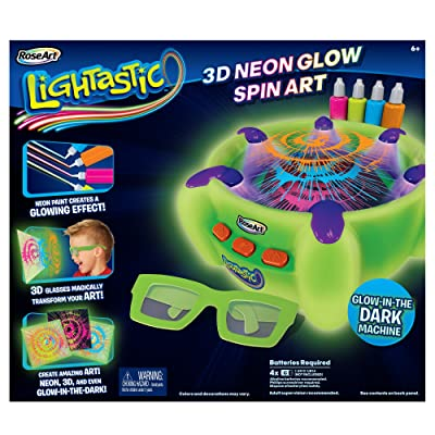 RoseArt Lightastic 3D Neon Glow Spin Art: Toys & Games