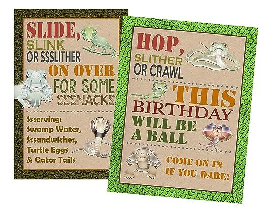 Suministros para fiesta de cumpleaños con temática de reptil ...