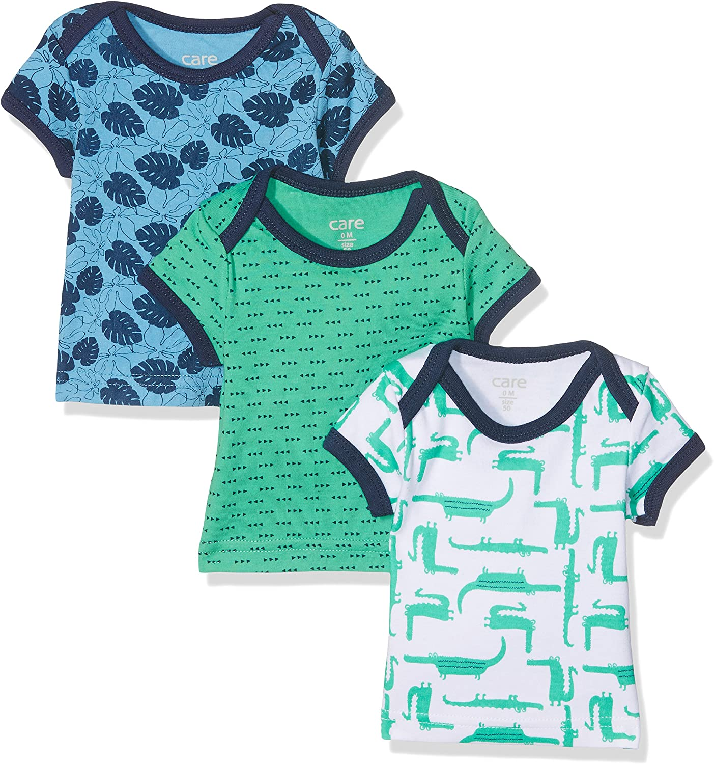 56 3-pack Care Baby Boys Bard T-Shirt Multicoloured Winter Green