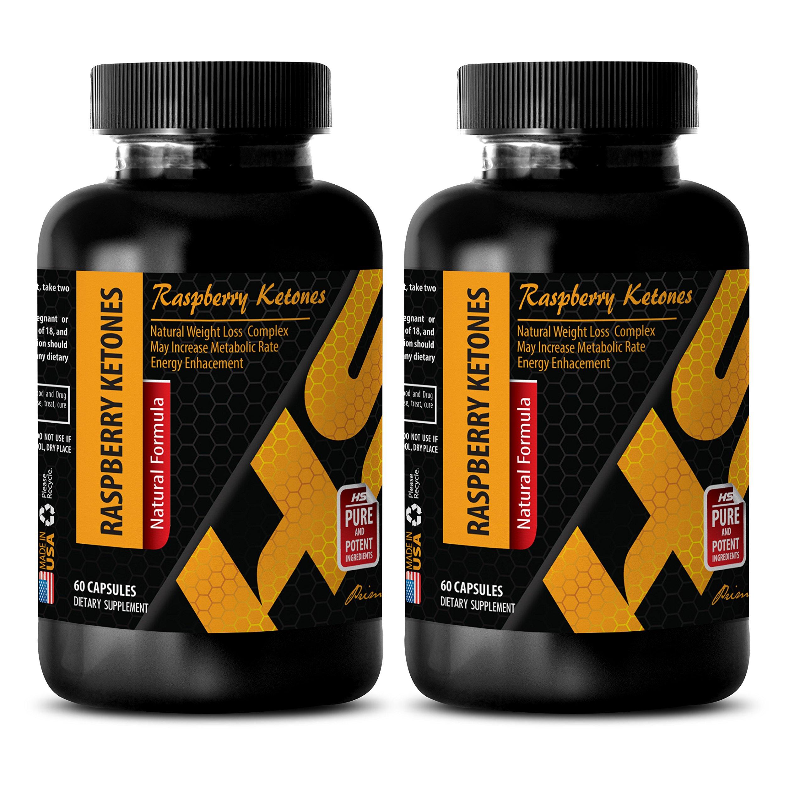 Metabolism accelerator - NATURAL RASPBERRY KETONES LEAN 1200MG - African mango plus - 2 Bottle (120 Capsules)