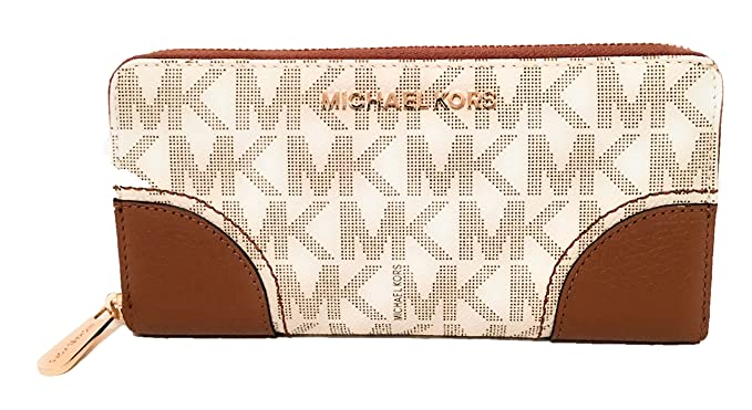 b642e80657b0ef Image Unavailable. Image not available for. Color: Michael Kors Hattie Zip  Continental PVC Signature Wallet ...
