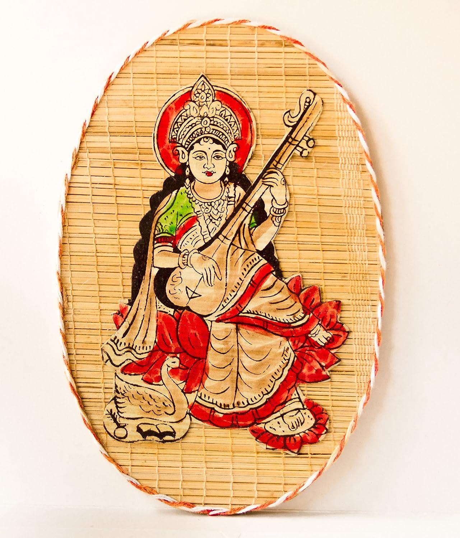 DC ECO Home Decor Saraswati Wall Hanging Bamboo Product.