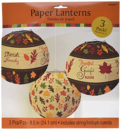 amazon com amscan colors of fall thanksgiving party round autumn