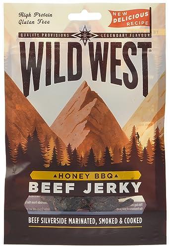 Wild West 70 g Honey BBQ Beef Jerky - Pack of 12