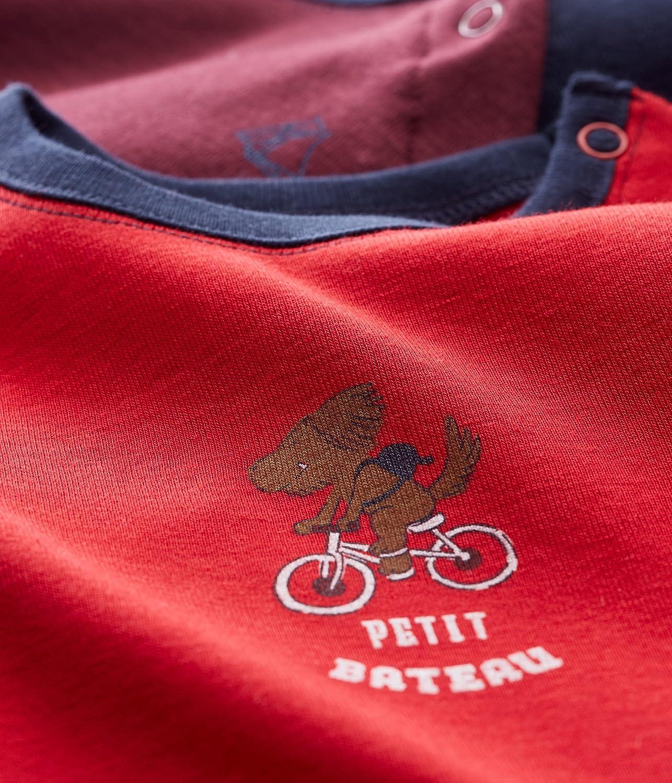B/éb/é gar/çon Lot de 2 Petit Bateau Tee Shirts ML