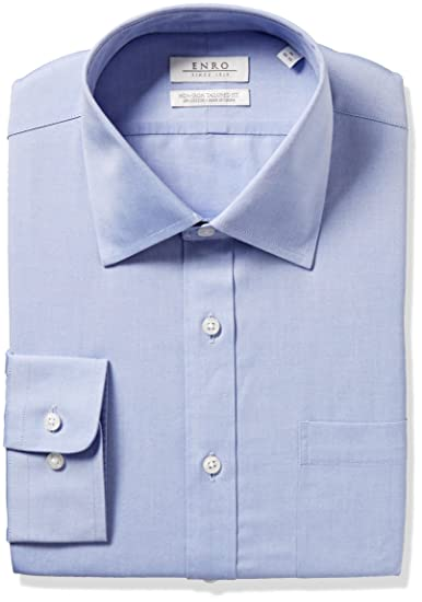 bc84df15d9144 Amazon.com  Enro Men s Size Slim Fit Big-Tall Solid Spread Collar Dress  Shirt  Clothing