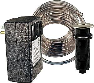Westbrass RASB-2B3-05 Flush Button Air Switch & Dual Outlet Box, Polished Nickel