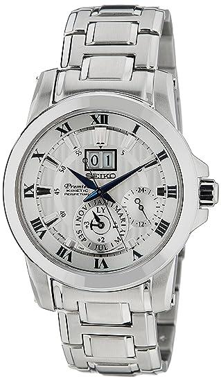 Seiko Reloj Cronógrafo para Hombre de Kinetico con Correa en Acero Inoxidable SNP091P1: Amazon.es: Relojes