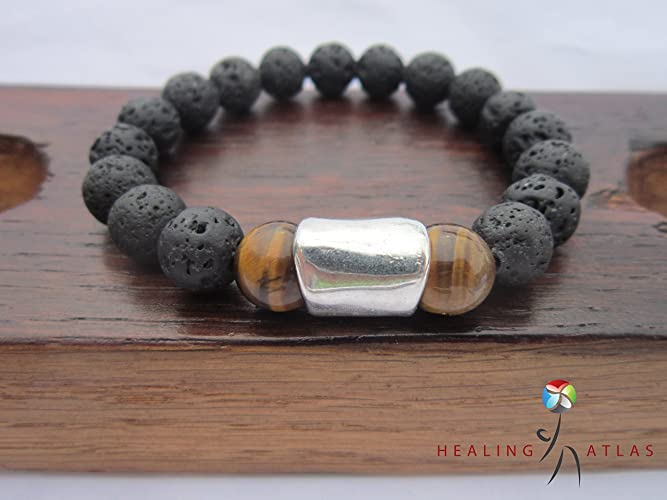wholesale colorful stone bracelet energy bracelets lava for crystal natural beads women volcano store product jewelry