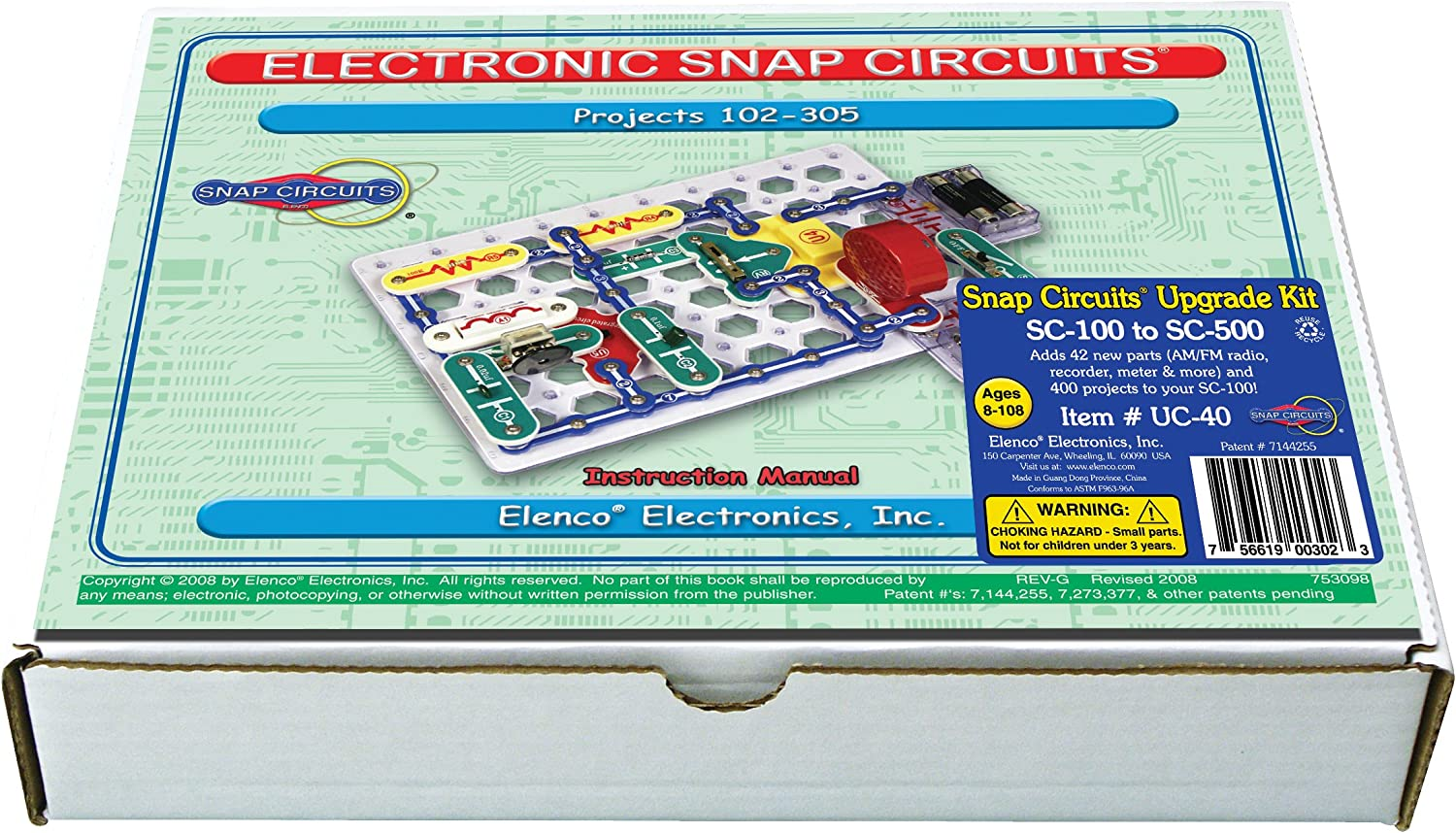 B000RQD7AW Snap Circuits UC-40 Electronics Exploration Upgrade Kit | SC-100 to SC-500 | Upgrade Junior to Pro 91MAVJh3XEL
