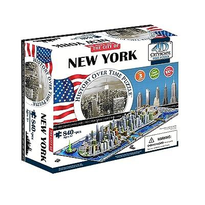 Eleven Force 40010 - Puzzle 4D Ciudades, diseño Nueva York (00502) - Puzzle New York 4D (840): Juguetes y juegos