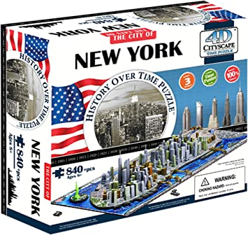 4D Cityscape New York City Skyline Time Puzzle