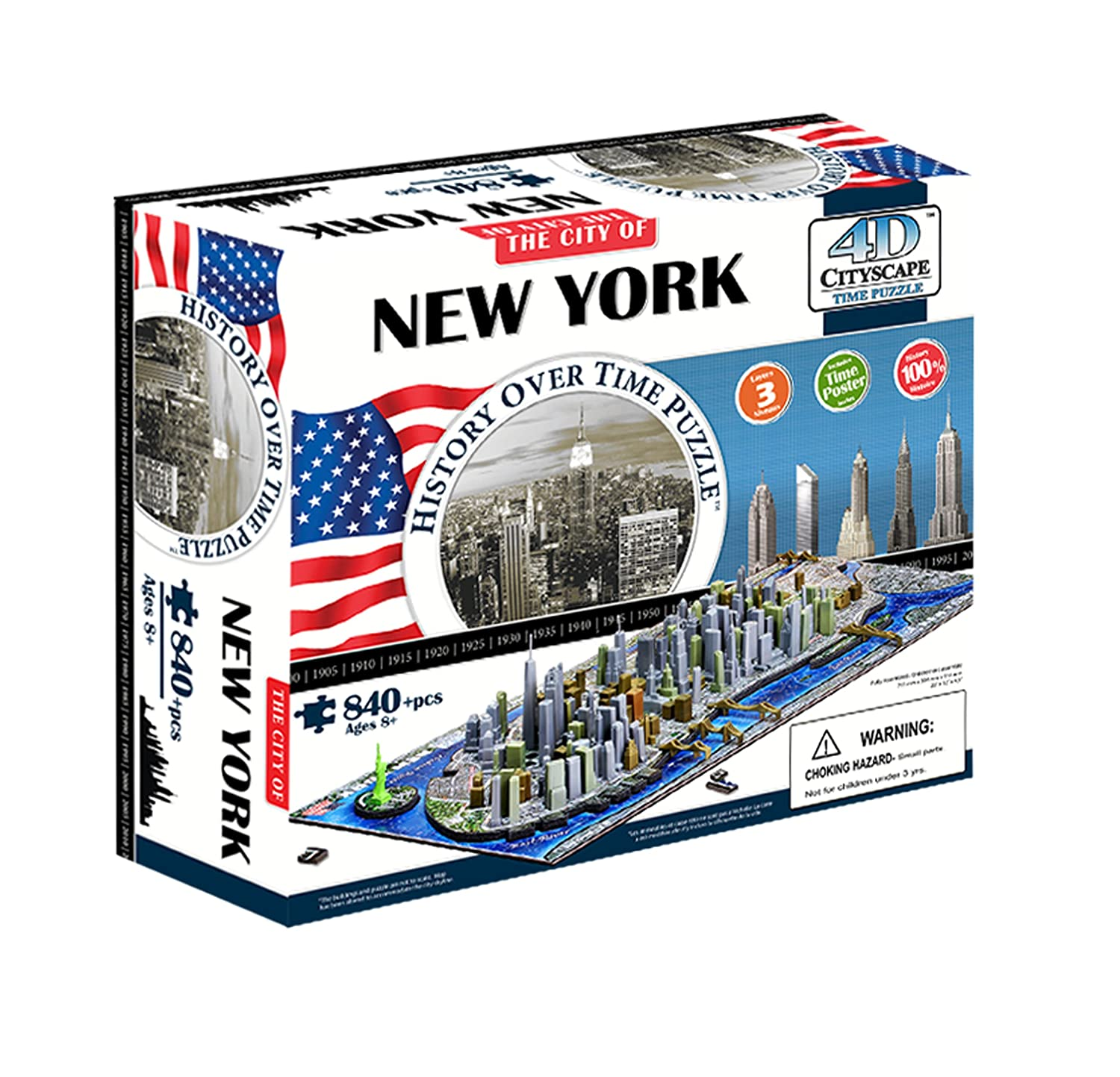 4D Cityscape New York City Skyline Time Puzzle 4D Cityscape Inc CTY-4D101 Puzzles