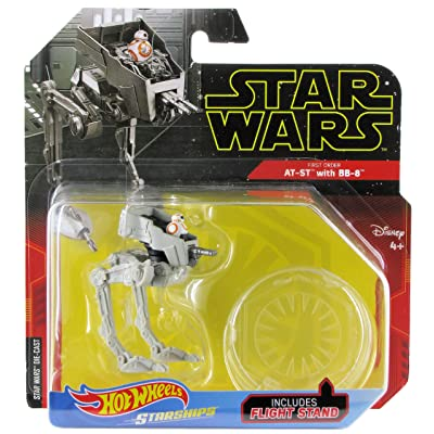 Hot Wheels Star Wars Starships First Order at-ST with BB-8: Toys & Games