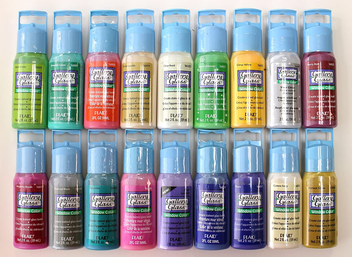 plaid gallery glass window color acrylic paint set 2
