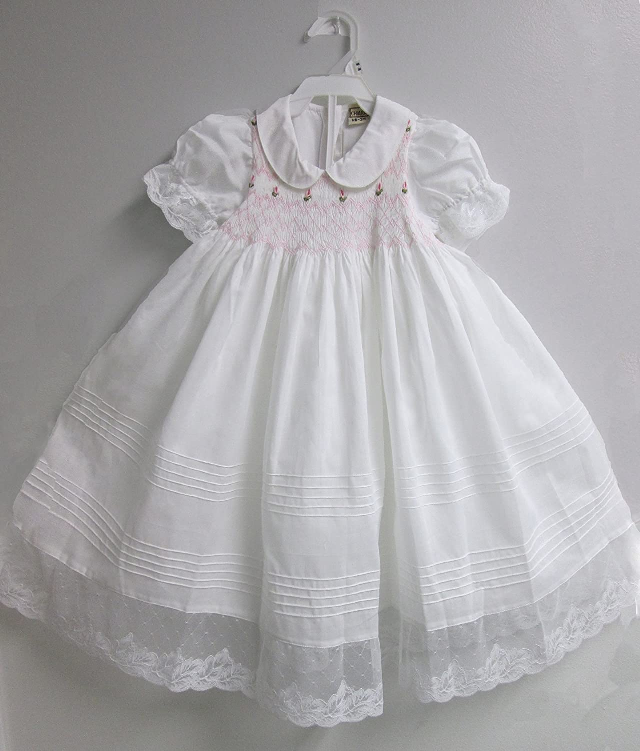 Gdacht Baby Girl Christening Dress White