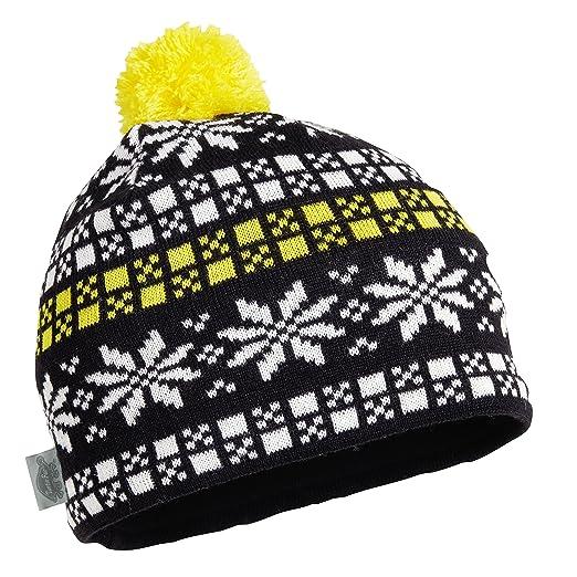 2ec98e6f037b9 Turtle Fur Pixie Fixie Women s Merino Wool Knit Pom Snowflake Hat Stinger