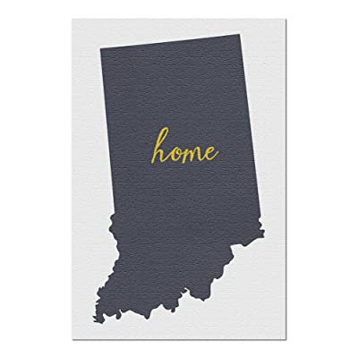 Indiana - Home State - Gray on White (Premium 1000 Piece Jigsaw Puzzle for Adults, 20x30, Made in USA!): Toys & Games