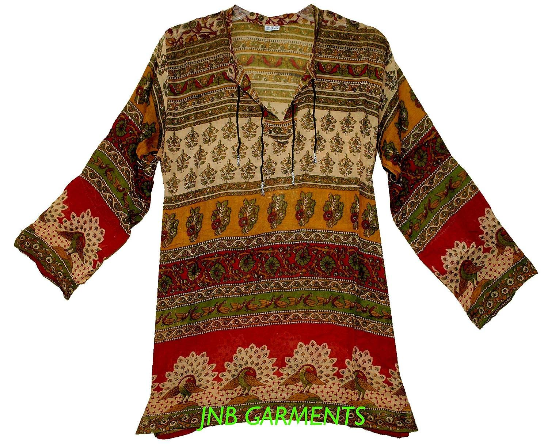 20Pcs Wholesale Lot Indian Vintage Cotton Top Women Hippie Blouse Dress Ethnic