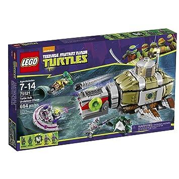 Amazon.com: LEGO Ninja Turtles 79121 Turtle Sub Undersea Chase ...