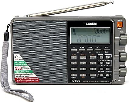 TECSUN PL-880 Portable Stereo Full Band Radio with LW//SW//MW SSB PLL Modes FM 64-108mHz
