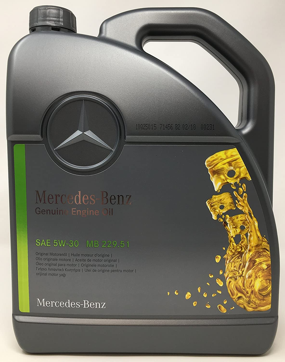 Mercedes-Benz Aceite de Motor Original 5W-30 MB 229,51 5 L: Amazon ...