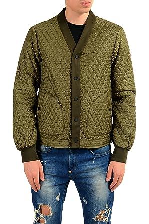 9fe7d4e86d7f Moncler Men s ORRES Olive Green Quilted Windbreaker Jacket Sz 3 US M ...