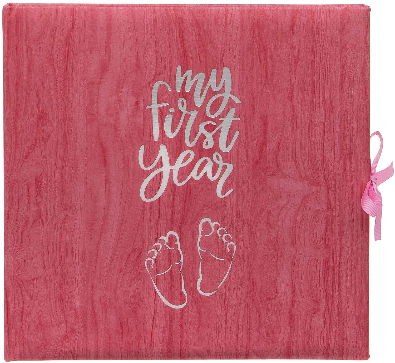 Baby/'s My First Year Record Logbuch zum Gedenken der Geburt durch das erste Jahr auf der Erde Pink