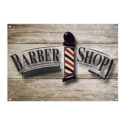 Qui556 Señal de Metal para barbero, Tienda, barbería ...
