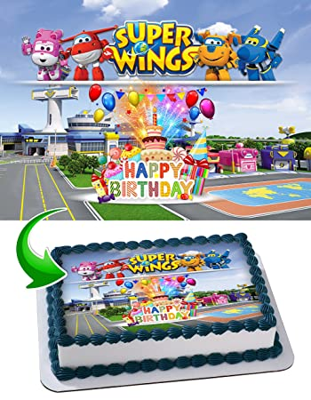 Super Wings Edible Cake Image Cake Topper Icing Sugar Paper A4 Sheet Edible Frosting Photo 1/4
