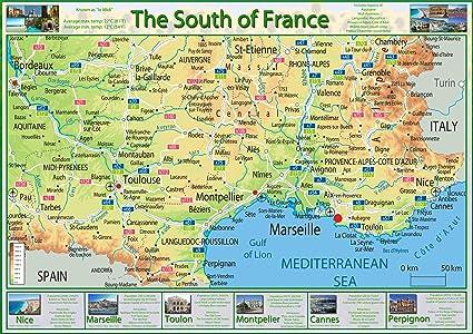 carte de france sud
