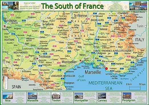 sud de la france carte