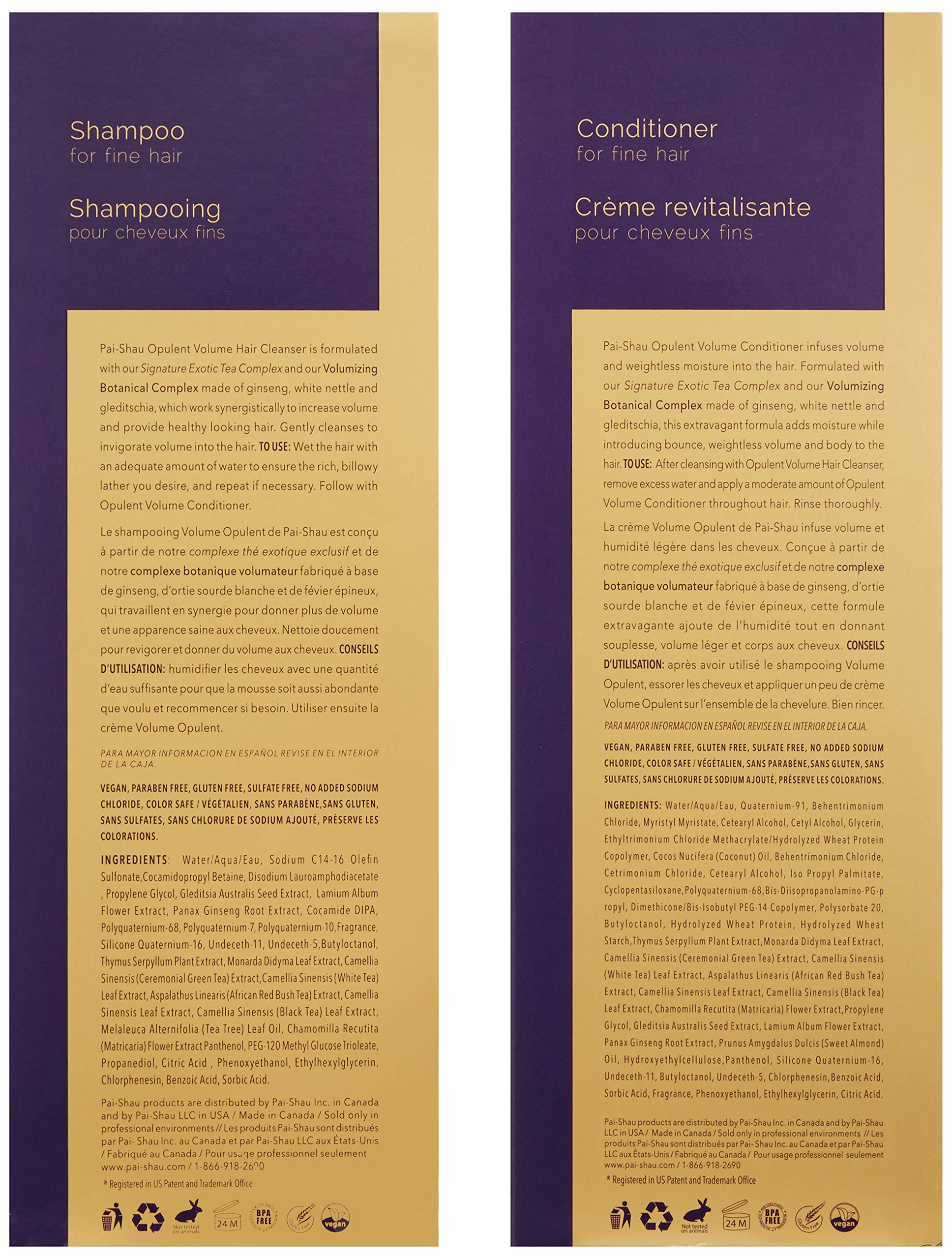 Pai-Shau Opulent Volume Cleanser and Conditioner by Pai-Shau (Image #2)