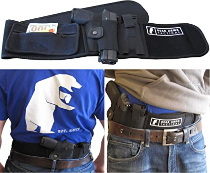 Concealed Carry Neoprene IWB Holster with Extra Mag Holster for Right Hand