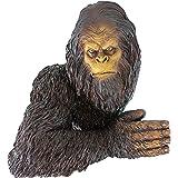 Design Toscano Bigfoot The Bashful Yeti Garden Tree Sculpture, 15 Inch,  Polyresin, Full