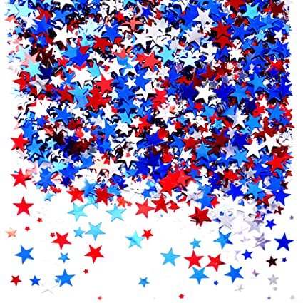 Confetti stars. Independence national day patriotic