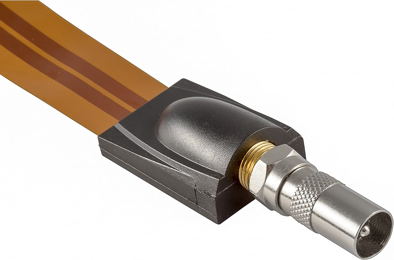Poppstar 2X Adaptador coaxial para Cable de Antena (1x Conector F Macho a CEI Macho, 1x Conector F Macho a CEI Hembra), Acoplamiento coaxial, Plateado